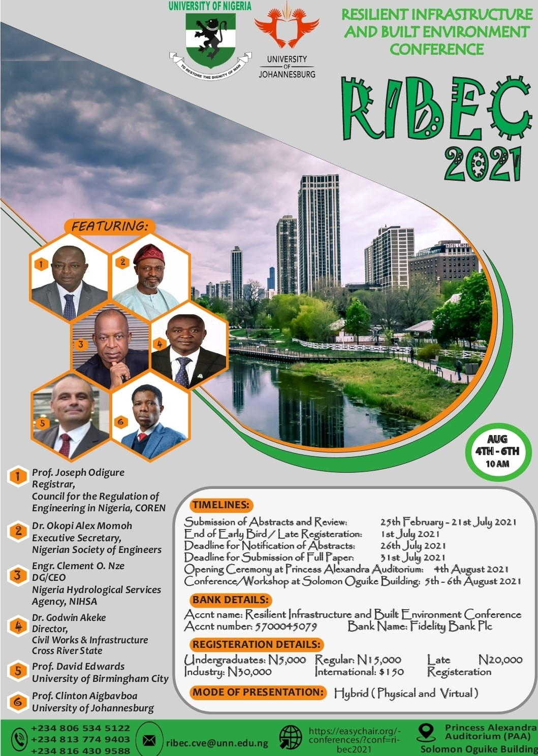 Resilient Infrastructure and Built Environment Conference, RIBEC 2021